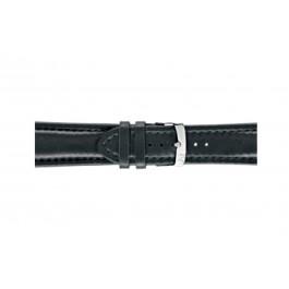 Morellato klockarmband Wide U4026A37019CR26 / PMU019WIDE26 Mjukt läder Svart 26mm + default sömmar