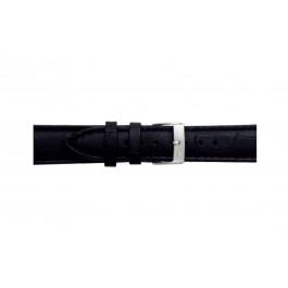 Morellato klockarmband Bolle X2269480019CR12 / PMX019BOLLE12 Krokodil läder Svart 12mm + default sömmar