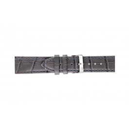 Morellato klockarmband Bolle X2269480090CR24 / PMX090BOLLE24 Krokodil läder Antracitgrå 24mm + default sömmar