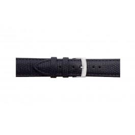 Morellato klockarmband Ibiza X3266773019CR12 / PMX019IBIZA12 Ödla läder Svart 12mm + default sömmar