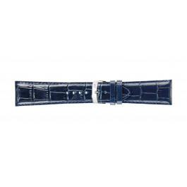 Morellato klockarmband Extra X3395656062CR30 / PMX062EXTRA30 Krokodil läder Blå 30mm + default sömmar