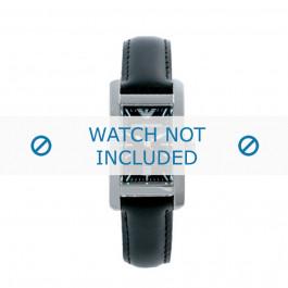 Klockarmband Armani AR0122 Läder Svart 14mm