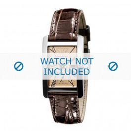 Klockarmband Armani AR0155 Läder Brun 18mm