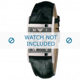 Klockarmband Armani AR0247 Läder Svart 22mm