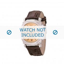 Klockarmband Armani AR0286 Läder Brun 24mm
