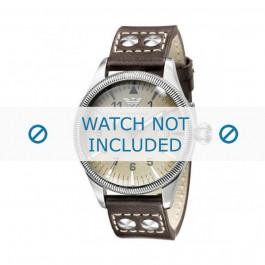 Klockarmband Armani AR0513 Läder Antracitgrå 23mm