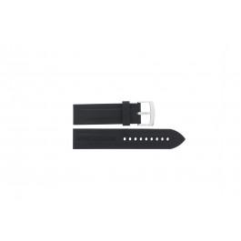 Klockarmband Armani AR0527 / AR5826 / Vanille Silikon Svart 23mm