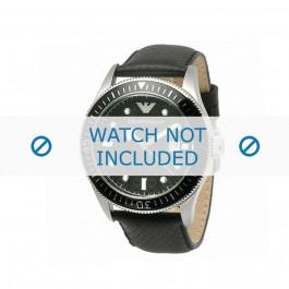 Klockarmband Armani AR0555 Läder Svart 26mm
