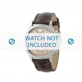 Klockarmband Armani AR0562 Läder Brun 21mm