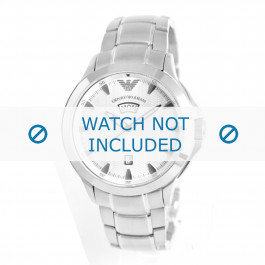 Armani klockarmband AR0633 Metall Ilverfärgad 23mm