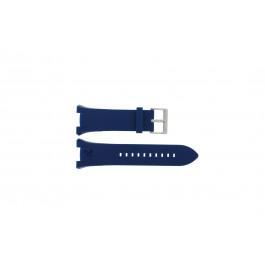 Klockarmband Armani AX1041 Silikon Blå 14mm