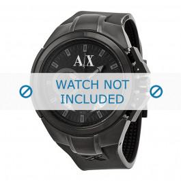 Klockarmband Armani AX1050 Silikon Svart 14mm