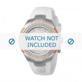 Klockarmband Armani AX5052 Silikon Vit 20mm