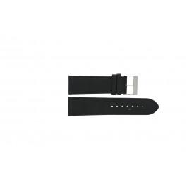 Klockarmband Davis BB0910 Läder Svart 24mm