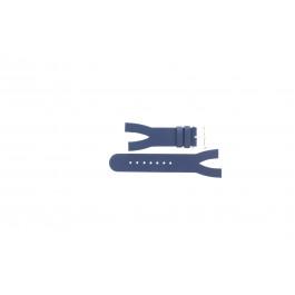 Klockarmband Davis BB1403 Läder Blå 10mm