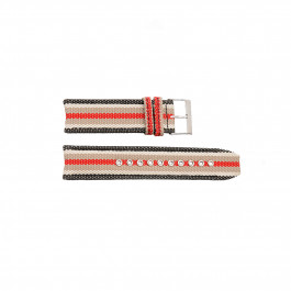 Klockarmband Burberry BU7601 / BU7600 Duk Polykromi 22mm