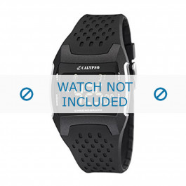Klockarmband Calypso K5563/1 Gummi Svart 26mm