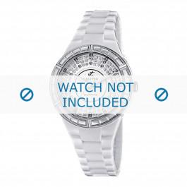 Klockarmband Calypso K5582 Plast Vit 15mm