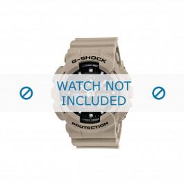 Klockarmband Casio 10443549 Gummi Gräddvit 16mm