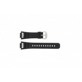 Klockarmband Casio GS-1000J-1A / 10212982 / 10332054 Silikon Svart 15mm