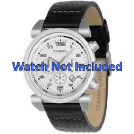 Klockarmband Fossil CH2493 / CH2494 Läder Svart 22mm