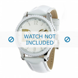 Dolce & Gabbana klockarmband DW0706 Läder Vit 20mm + sömmar vitt