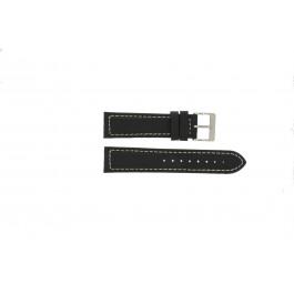 Klockarmband Davis BB1020 Läder Svart 22mm