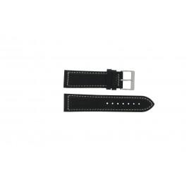Klockarmband Davis BB0450 / BB0454 Läder Svart 24mm
