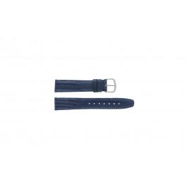 Klockarmband Davis B0084 Läder Blå 12mm