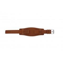 Klockarmband Davis B0222 Läder Konjak 18mm