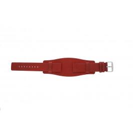 Klockarmband Universell B0223 Läder Röd 20mm
