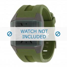 Diesel klockarmband DZ1389 Silikon Grön 20mm