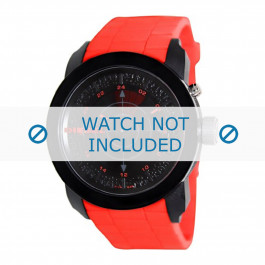 Klockarmband Diesel DZ1607 Silikon Röd 24mm