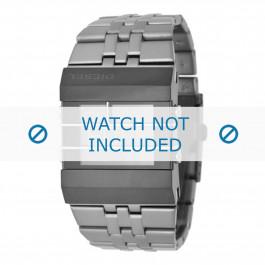 Diesel klockarmband DZ7227 Rostfritt stål Grå 36mm