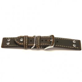 Klockarmband Universell I392 Läder Brun 24mm