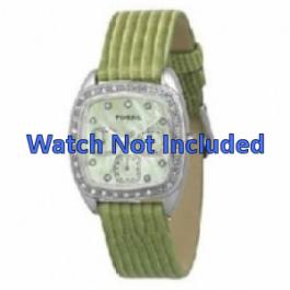 Klockarmband Fossil ES1010 Läder Grön 18mm