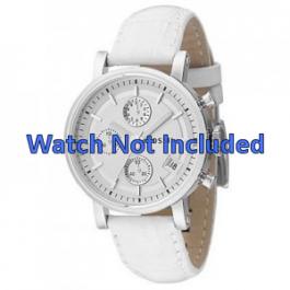Klockarmband Fossil ES2202 Läder Vit 18mm