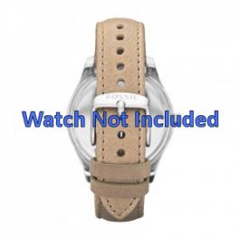 Klockarmband Fossil ES2997 Läder Beige 18mm