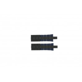 Klockarmband Festina F16659/2 Stål/Silikon Blå 24mm