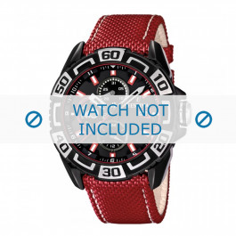 Klockarmband Festina F16584-2 Läder Röd 24mm