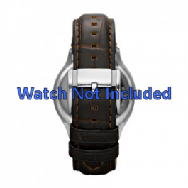 Klockarmband Fossil FS4737 Läder Brun 22mm