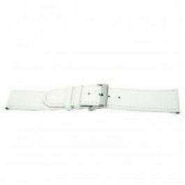 Klockarmband Universell I505 Läder Vit 24mm