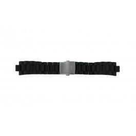 Guess klockarmband I15056L1 / I11040L1 / I11005G2  Gummi / plast Svart 22mm