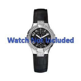 Guess klockarmband W11607L2 Läder Svart 19mm