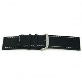 Klockarmband Universell L125 Läder Svart 30mm