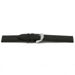 Klockarmband Universell G129 Läder Svart 20mm