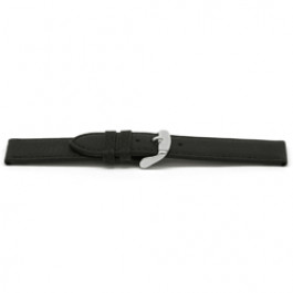 Klockarmband Universell E129 Läder Svart 16mm