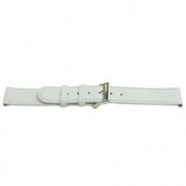 Klockarmband Universell C500 Läder Vit 12mm