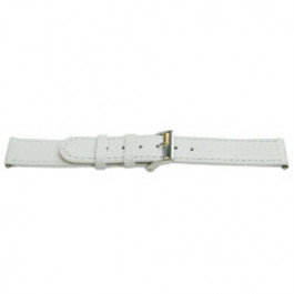 Klockarmband Universell E500 Läder Vit 16mm