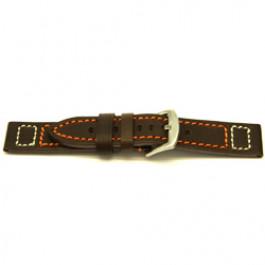 Klockarmband Universell H394 Läder Brun 22mm